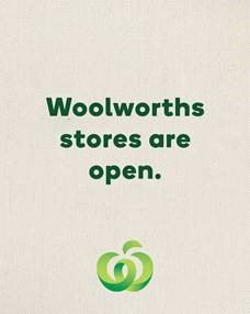 Woolworths stores are open